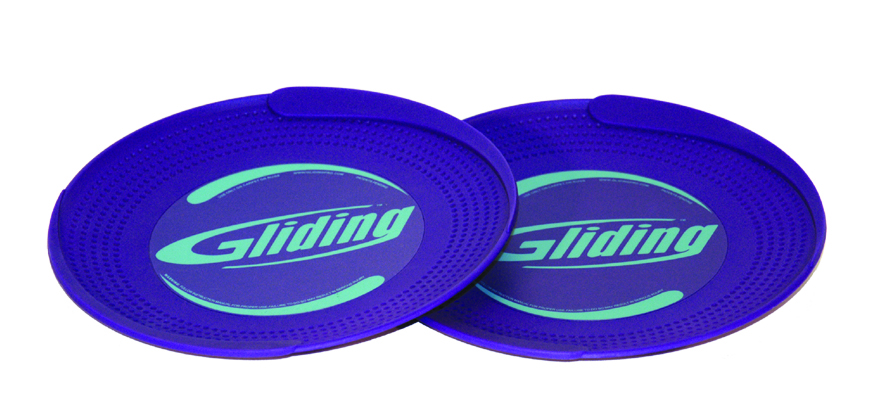 Gliding disc for carpeted floor