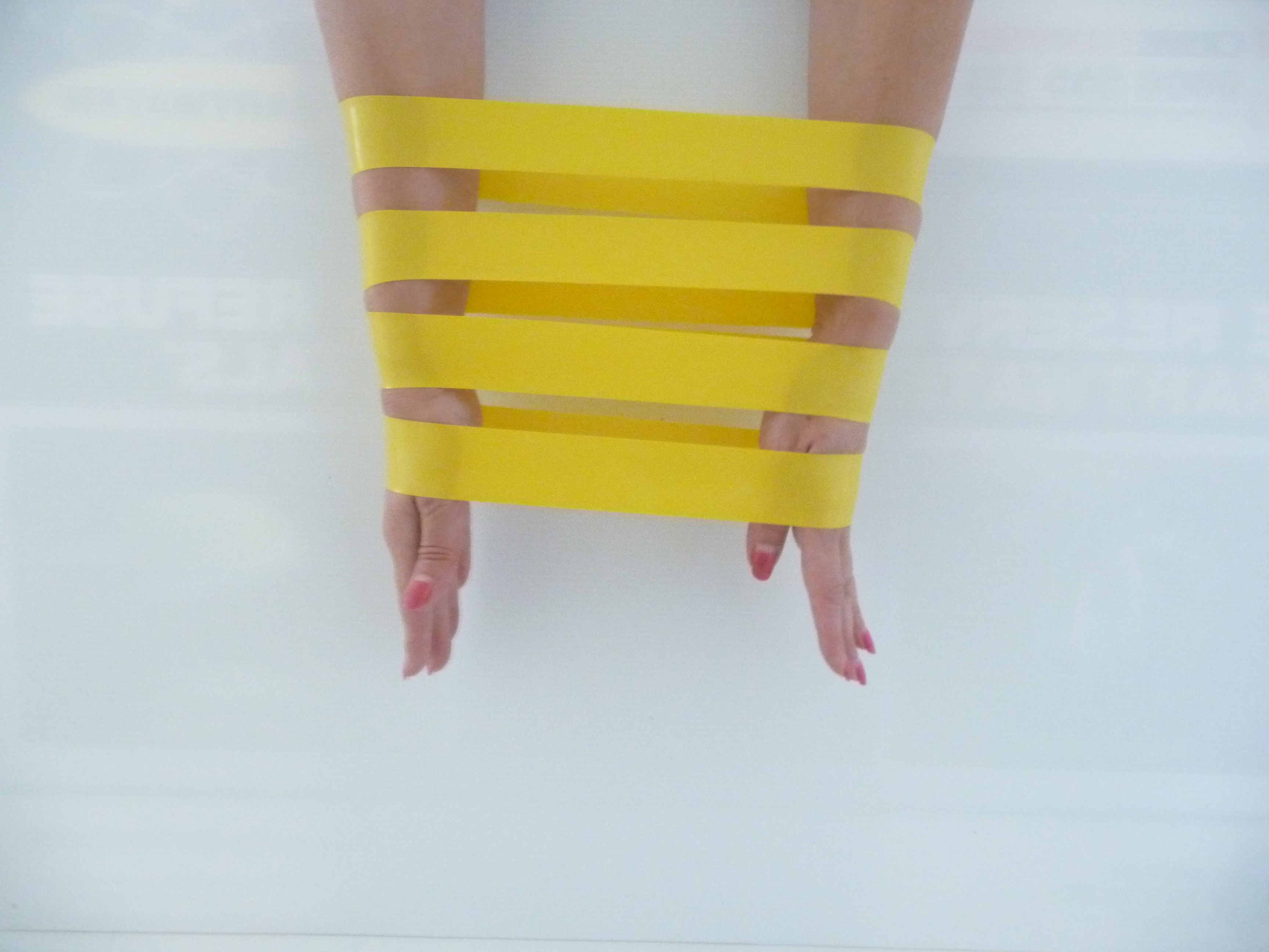 Exercise resistance Latex band 20 pack Yellow for Rehab