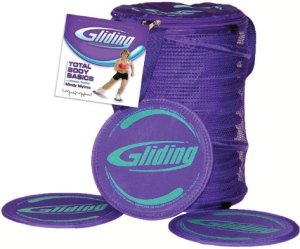 Gliding disc instructor 12 pack for hardwood flooring